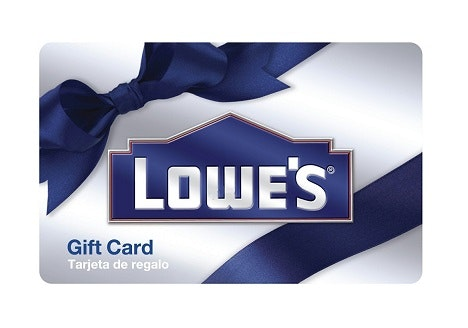 $100 LOWE'S Home Improvement Gift Card