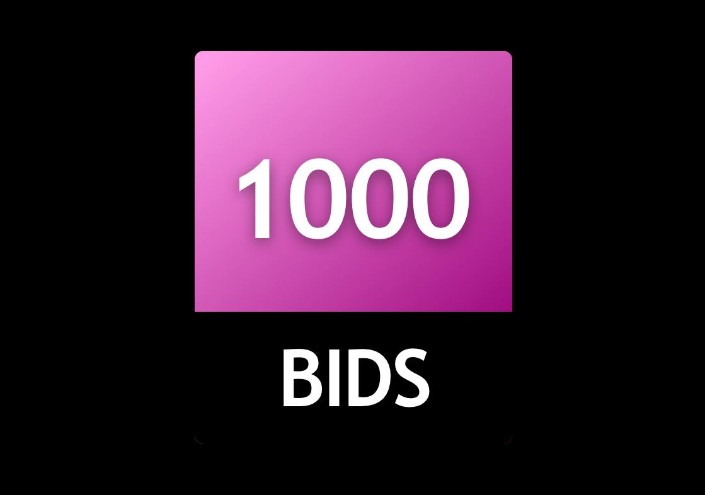 1000 Bid Pack!