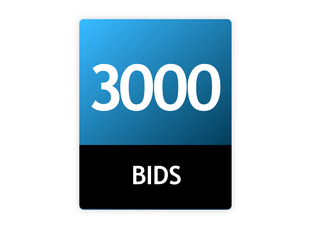 3000 Bid Pack!