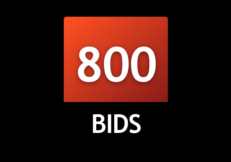 800 Bid Pack!