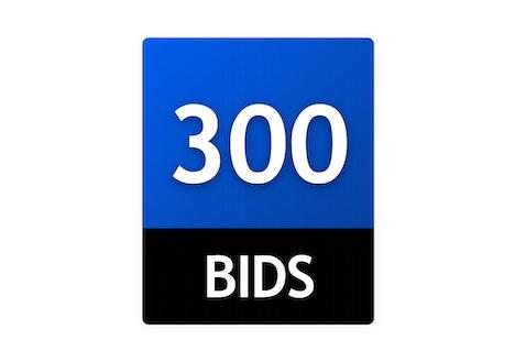 300 Bid Pack!