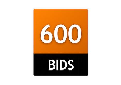600 Bid Pack!