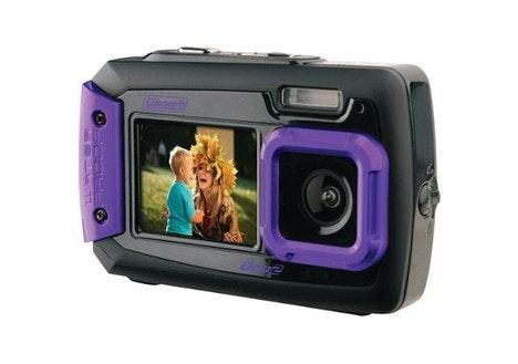 Coleman Duo2 Dual-Screen Waterproof Digital Camera (Purple)