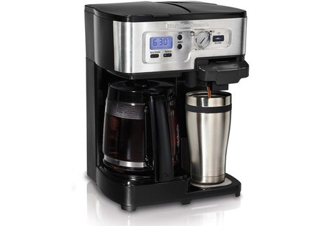 Hamilton Beach 12-Cup 2-Way FlexBrew Coffee Maker, Silver/Black